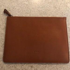 J Crew IPad case Brown Cognac Leather